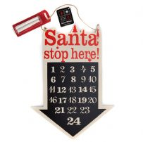 Blackboard Countdown Arrow Advent Calendar